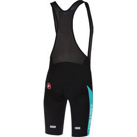 Castelli Velocissimo IV Bib Shorts Heren, black/sky blue